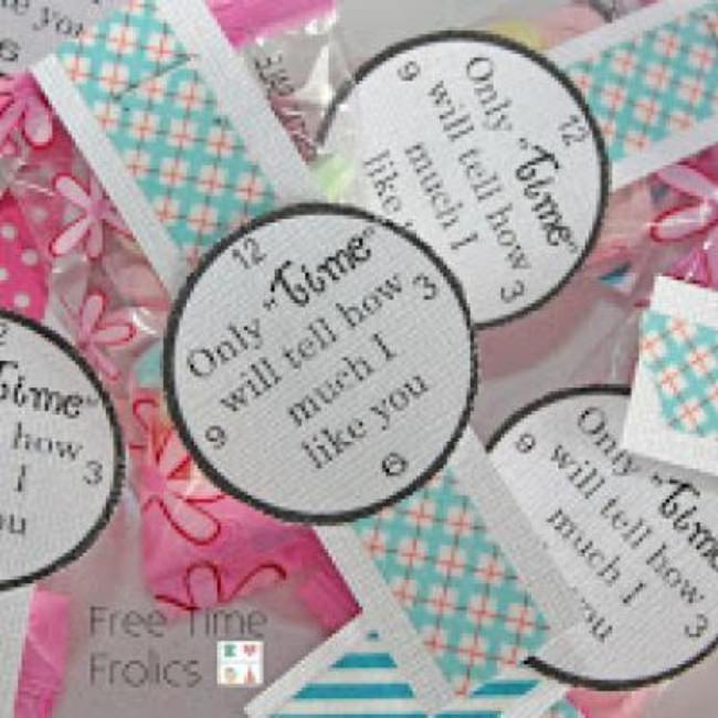 Only Time Will Tell Valentines {Valentine Printables}