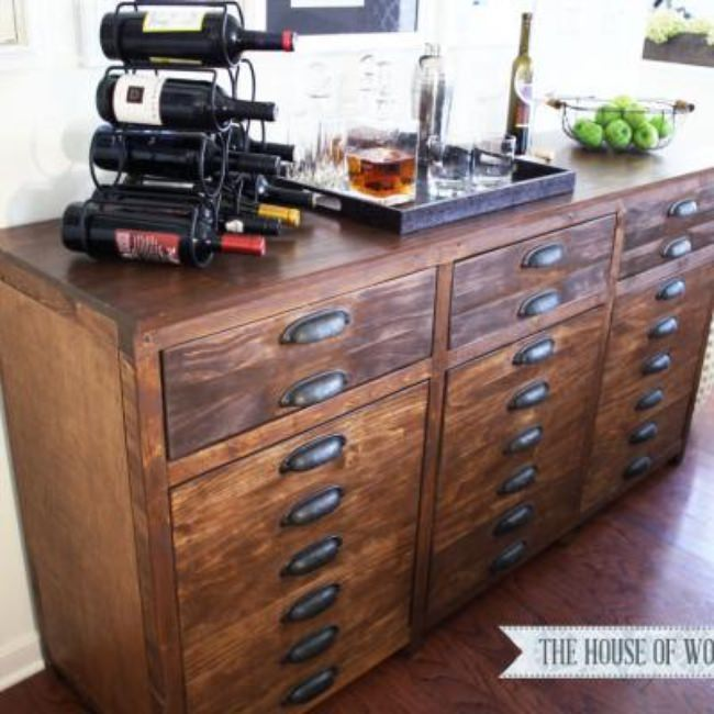 Restoration Hardware Inspired Sideboard {Chests & Consoles}