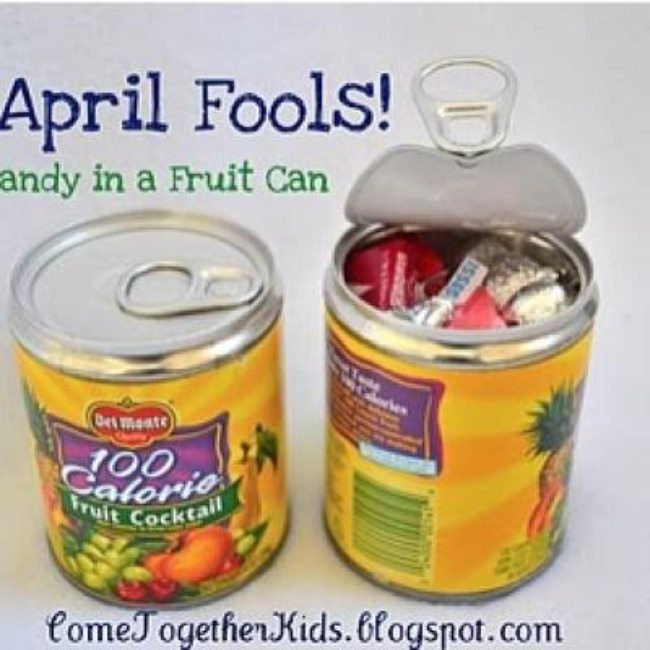 Surprise Candy In A Fruit Can