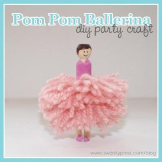 Pom-Pom Ballerina {Easy Craft}