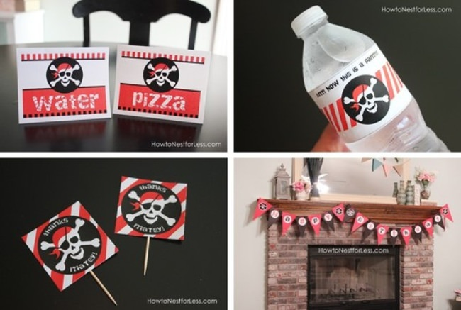 Pirate Birthday Party FREE Printables