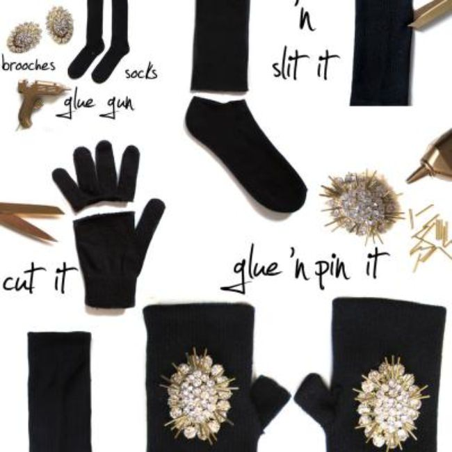 DIY Jeweled Glovette {Gloves}