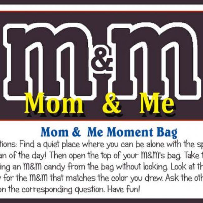 Mother's Day M&M Game