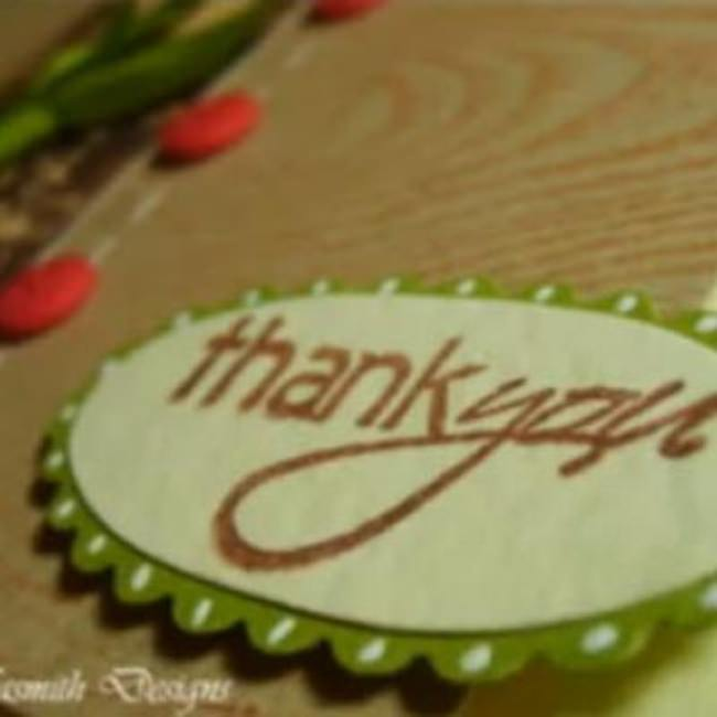 Thank You Card Tutorial {Homemade Thank You Card}