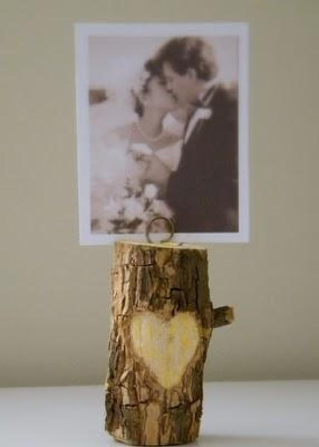 Carved Branch Photo Holder