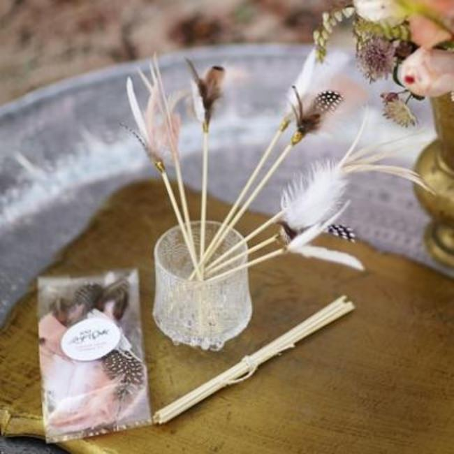 Feather Drink Stirrers {party decor}