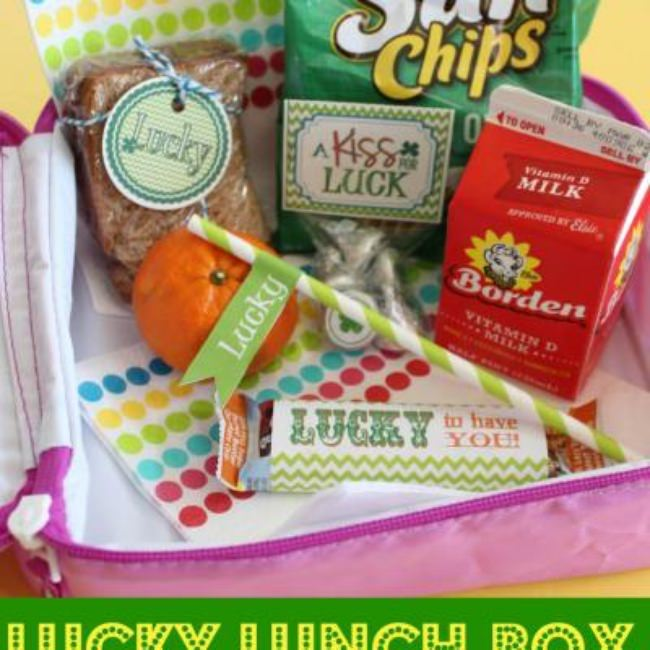 St. Patrick's Day Lunch Box Printables {St. Patrick's Printable}