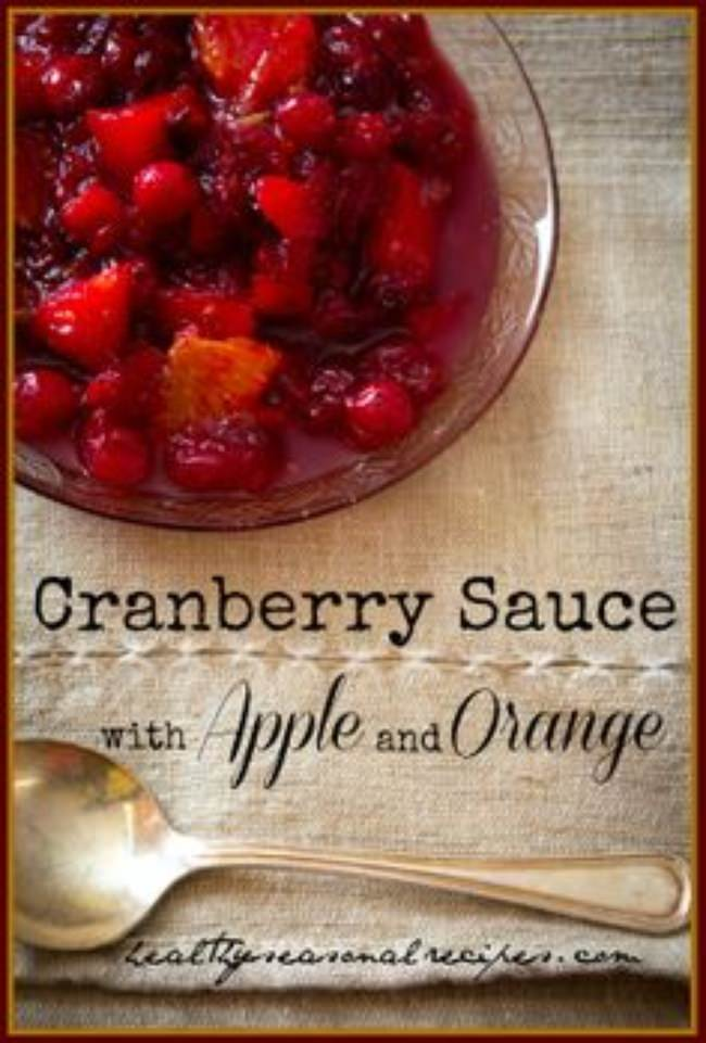 Cranberry Sauce with Apple & Orange