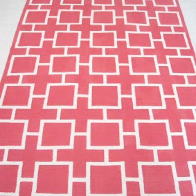 Geometric Painted Rug {Rugs}