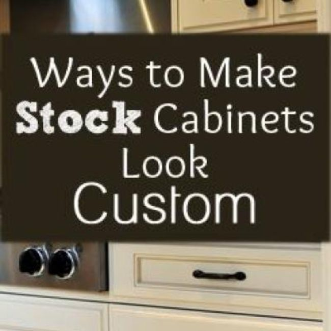 Make Stock Cabinets Look Custom {Kitchen Makeover}
