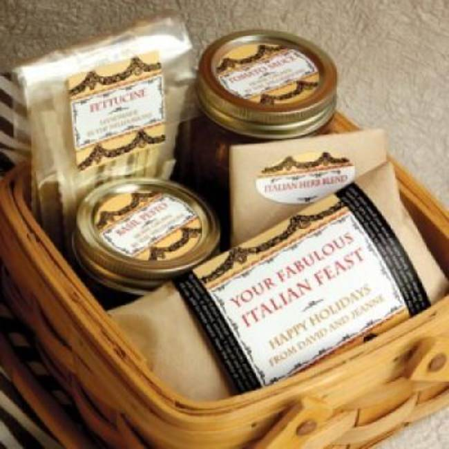 Homemade Italian Food Gift Basket