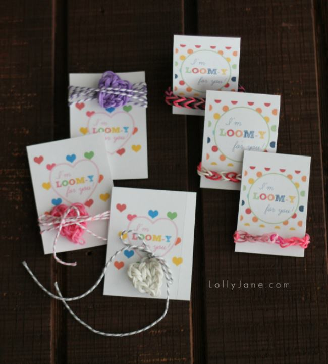 Loom Band Valentine Printables