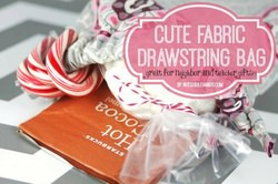 Cute Fabric Drawstring Bags for Neighbor or Teacher Gifts
