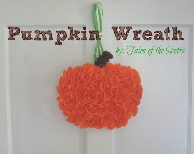 Felt Pumpkin Wreath