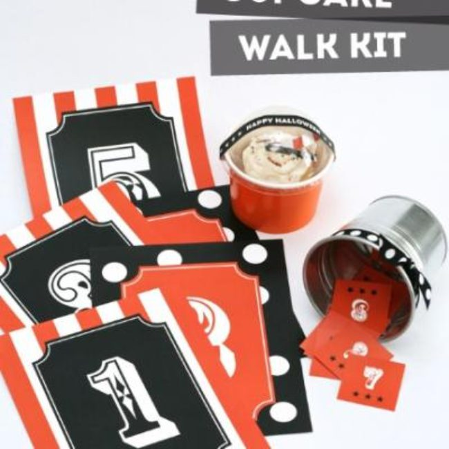 Halloween Carnival Cupcake Walk Kit {free halloween games}