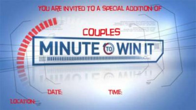 Couples Minute to Win It! {Date Night Ideas}