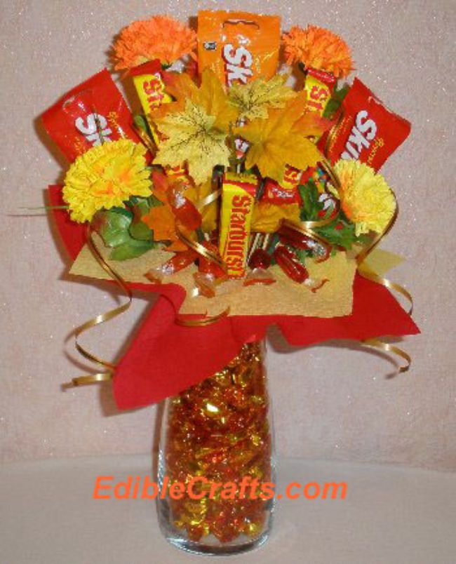 How to make a Fall Candy Centerpiece