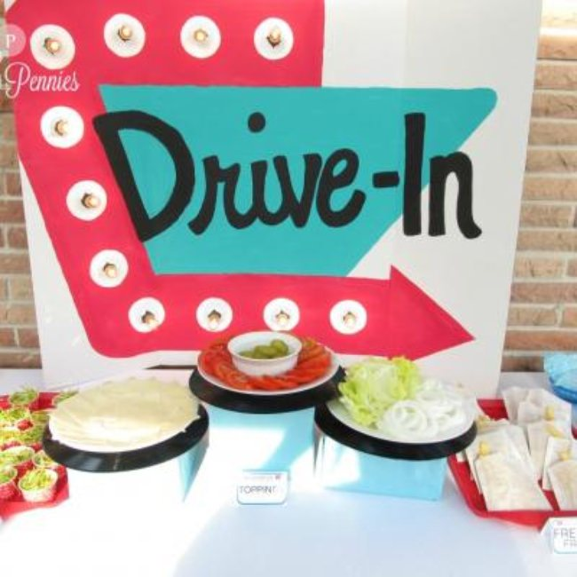 Drive In Diner Birthday Party {food themes}