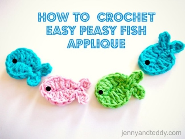 how to crochet fish applique