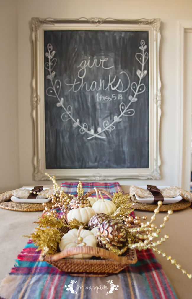 Plaid & Sequins Fall Tablescape