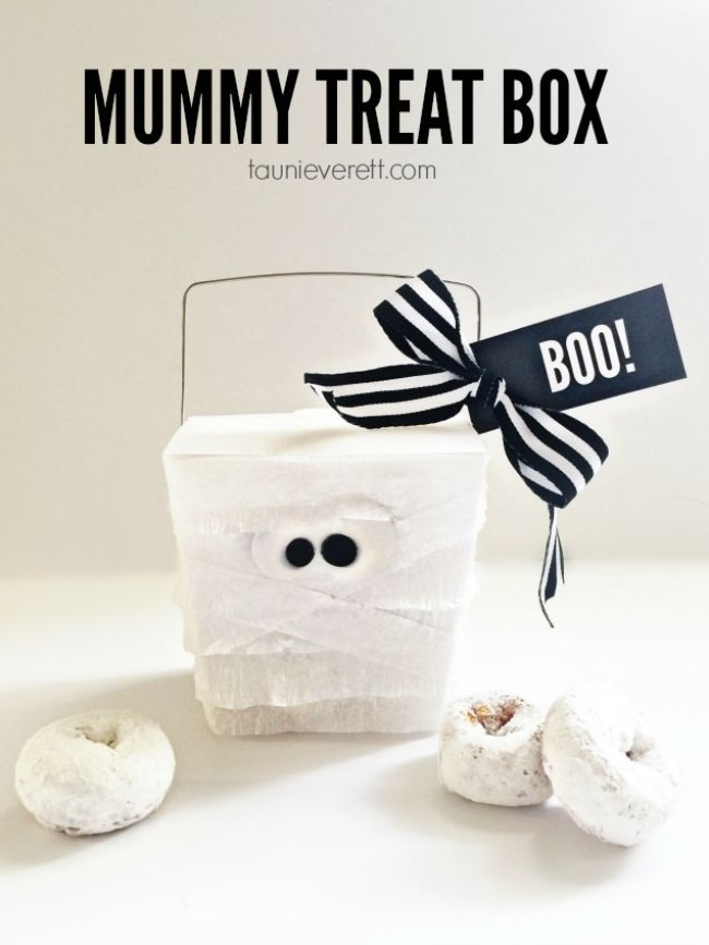 Mummy Treat Box {free printable tag}