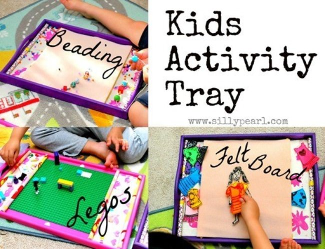 Kids Activity Tray (Legos, Beading, Felt Board)