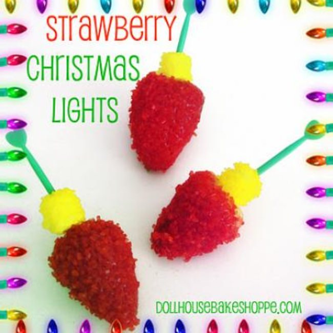 Strawberry Christmas Lights {Strawberry Dessert}