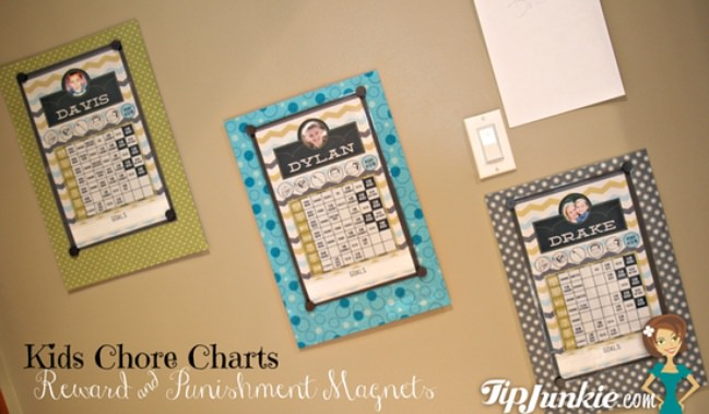 Kids Magnetic Reward & Punishment Magnet Chore Charts
