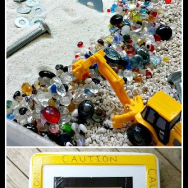 Construction Site Sensory Bin {Sensory Activities}