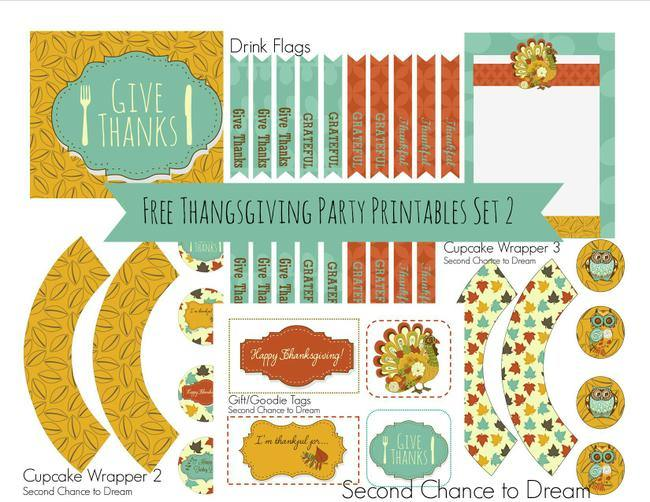 Thanksgiving Party Printables set 2