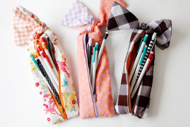 Knotted Zipper Pencil Pouch {tutorial}