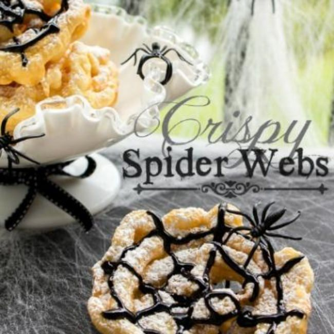 Crispy Spider Webs {Halloween recipes}