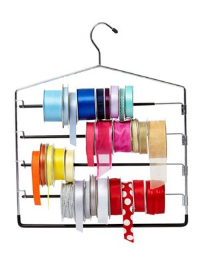 Pant Hangers turned into a Ribbon Hanger
