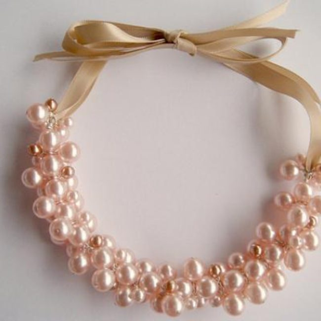 Pearl Cluster Necklace Tutorial {Necklaces}
