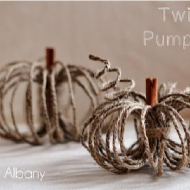 DIY Twine Pumpkins {fall crafts}