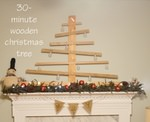 DIY wooden christmas tree tutorial