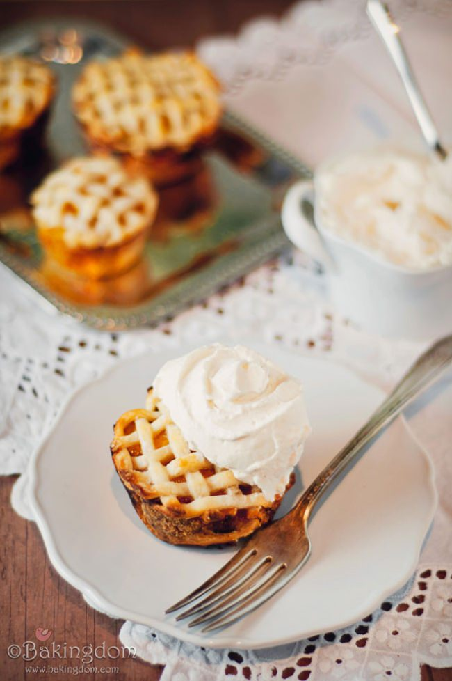 Peach Pies with Ginger Whipped Cream