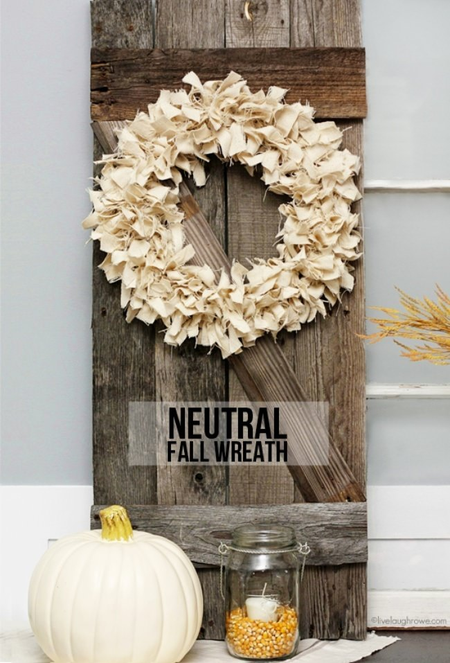 Neutral Rag-Tied Wreath