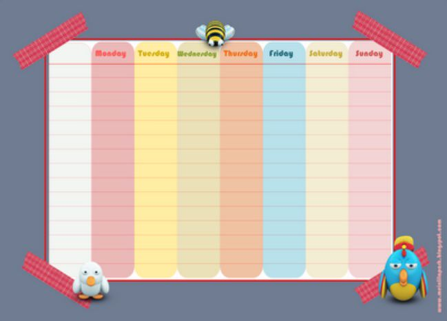 4 free printable lovely schedules for happy organizing