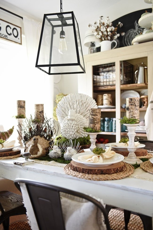 Rustic Natural Thanksgiving Table