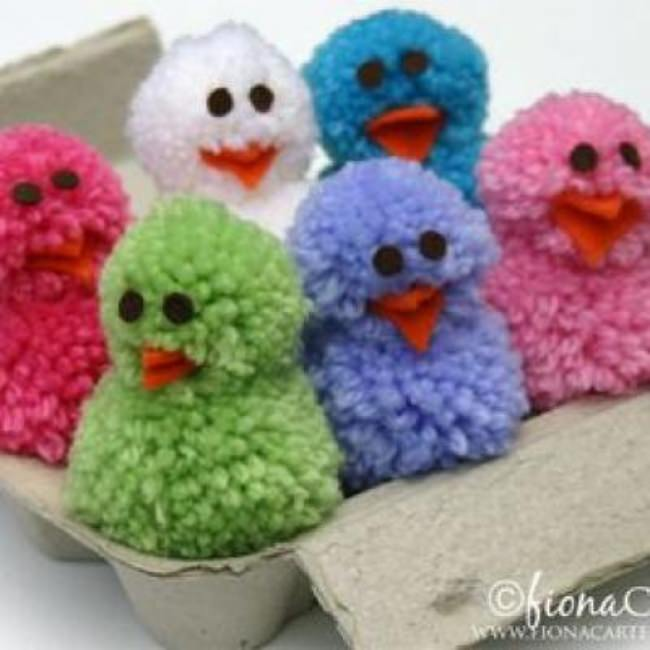 Pom Pom Chicks {Easter Crafts}