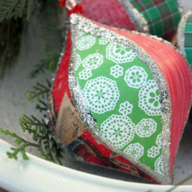Scandinavian Inspired Mod Podge Ornament {Decorating with Paper}