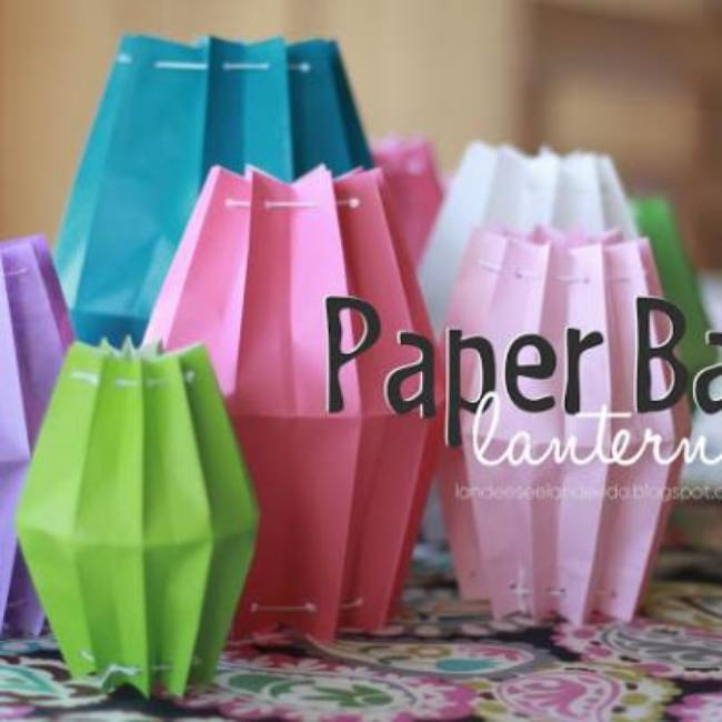 Paper Bag Lanterns {party decor}