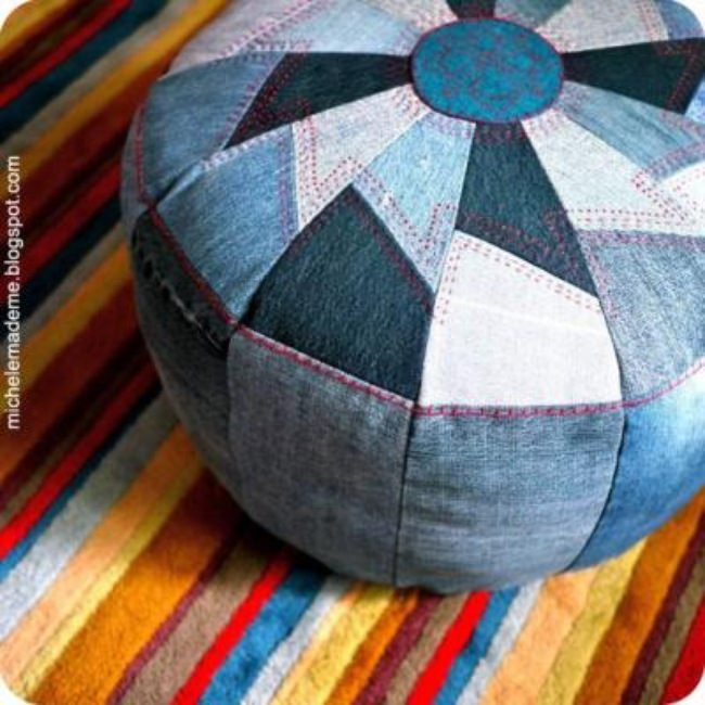 Denim Pouf DIY {Denim}