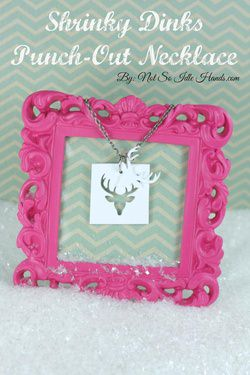 Stocking Stuffer Idea ~ Shrinky Dinks Deer Necklace