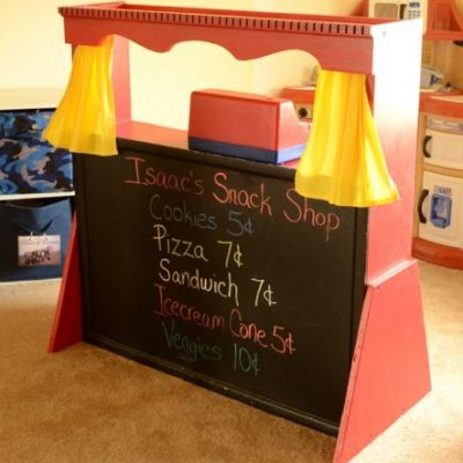 Homemade Puppet Theater {Craft Ideas for Home}