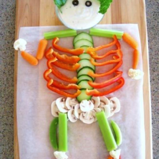 Veggie Skeleton {appetizer}