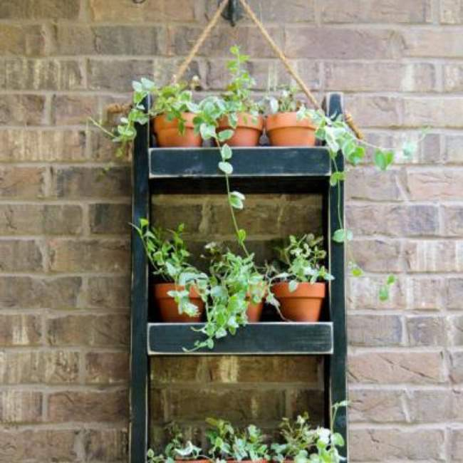 Hanging Plant Shelf {Outdoor Accessories}