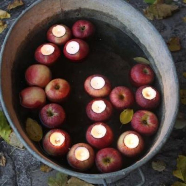 DIY Apple Votive {fall crafts}