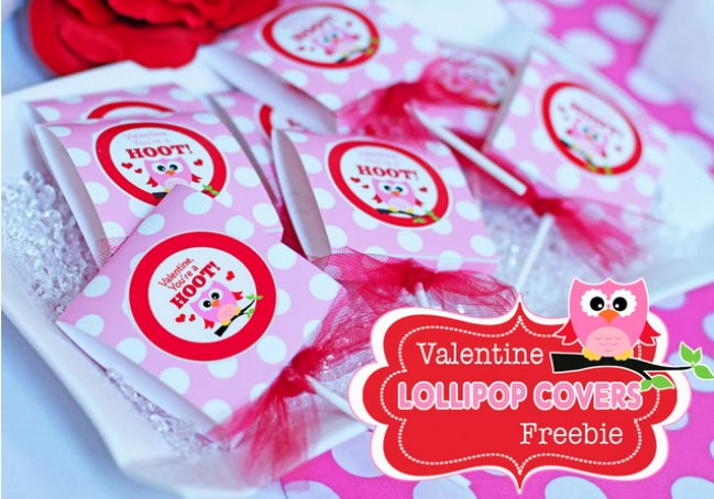 """You're a Hoot"" Valentines Lollipop Cover"